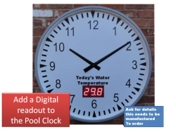 Pool Clock with Temperature Readout