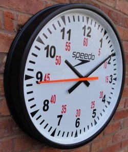 SPEEDO DUAL PURPOSE CLOCK CASED round