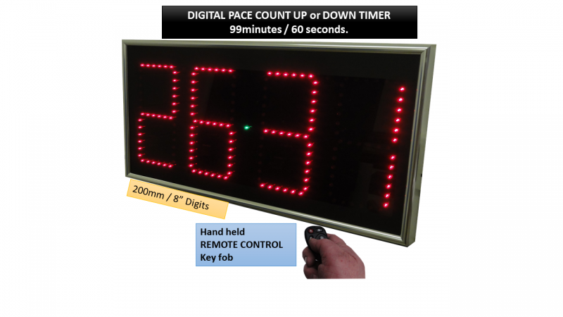 Digital Dispaly Countdown Up Pace Clock Speedo Pace