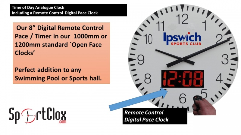 Time of Day Clock & Digital Pace Timer.
