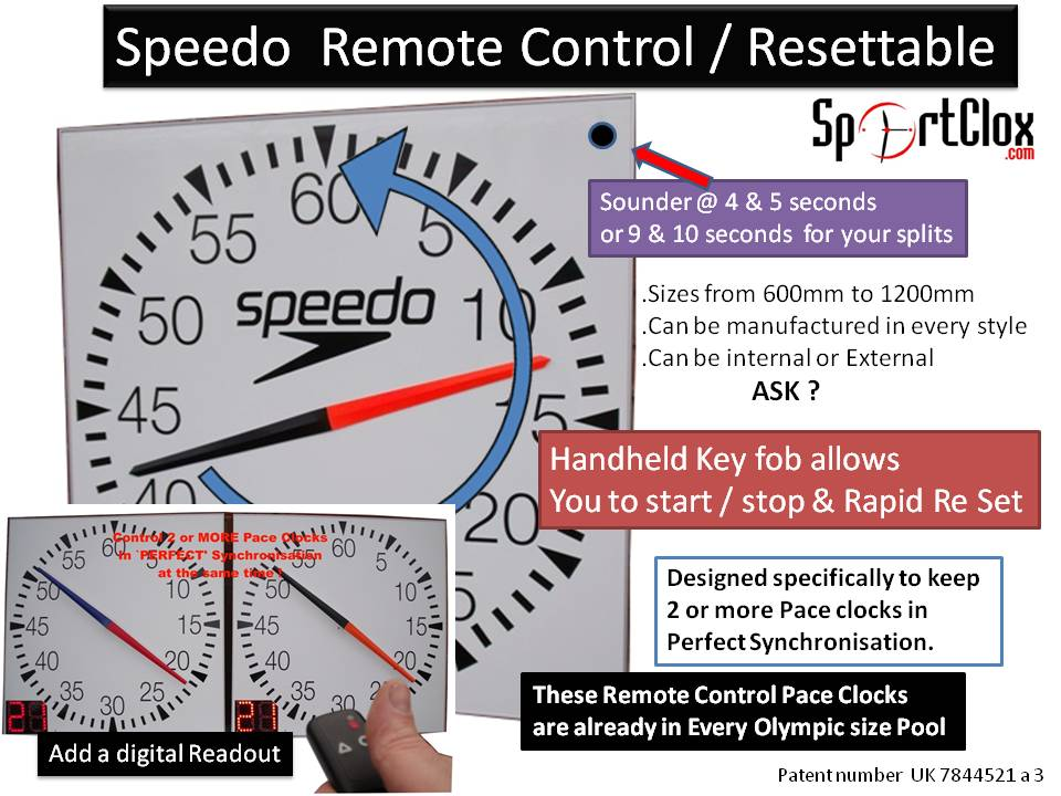 Remote Control Pace Clocks