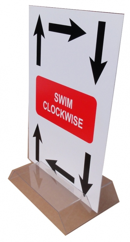 Swimming Lane Direction Signs
