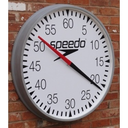 Speedo Round Cased Training Clock /External